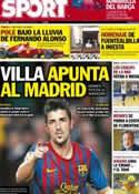 Portada diario Sport del 22 de Julio de 2012