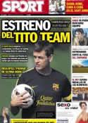 Portada diario Sport del 24 de Julio de 2012