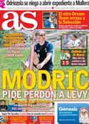 Portada diario AS del 25 de Julio de 2012
