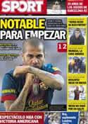 Portada diario Sport del 25 de Julio de 2012