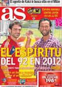 Portada diario AS del 26 de Julio de 2012