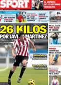 Portada diario Sport del 26 de Julio de 2012