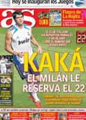 Portada diario AS del 27 de Julio de 2012