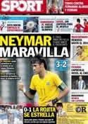 Portada diario Sport del 27 de Julio de 2012
