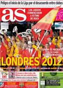 Portada diario AS del 28 de Julio de 2012