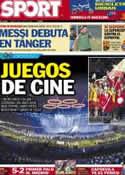 Portada diario Sport del 28 de Julio de 2012