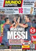 Portada Mundo Deportivo del 29 de Julio de 2012