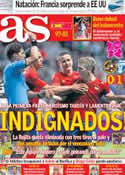 Portada diario AS del 30 de Julio de 2012