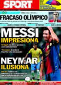 Portada diario Sport del 30 de Julio de 2012