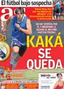 Portada diario AS del 31 de Julio de 2012