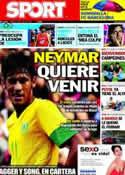 Portada diario Sport del 31 de Julio de 2012