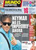 Portada Mundo Deportivo del 31 de Julio de 2012