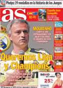 Portada diario AS del 1 de Agosto de 2012