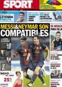 Portada diario Sport del 1 de Agosto de 2012