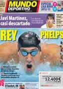 Portada Mundo Deportivo del 1 de Agosto de 2012