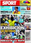 Portada diario Sport del 2 de Agosto de 2012