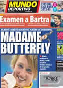 Portada Mundo Deportivo del 2 de Agosto de 2012