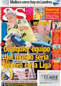 Portada diario AS del 3 de Agosto de 2012