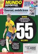 Portada Mundo Deportivo del 3 de Agosto de 2012
