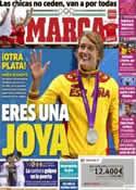 Portada diario Marca del 4 de Agosto de 2012