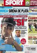 Portada diario Sport del 4 de Agosto de 2012