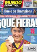 Portada Mundo Deportivo del 4 de Agosto de 2012