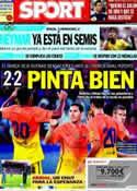 Portada diario Sport del 5 de Agosto de 2012