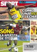 Portada diario Sport del 6 de Agosto de 2012
