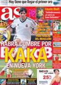 Portada diario AS del 7 de Agosto de 2012