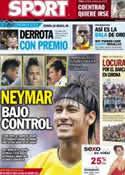 Portada diario Sport del 7 de Agosto de 2012