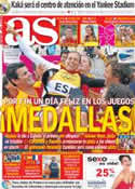Portada diario AS del 8 de Agosto de 2012