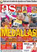 Portada diario AS del 8 de Agosto de 2012