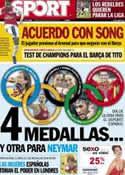 Portada diario Sport del 8 de Agosto de 2012