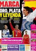 Portada diario Marca del 9 de Agosto de 2012