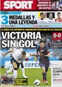 Portada diario Sport del 9 de Agosto de 2012