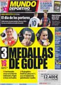 Portada Mundo Deportivo del 9 de Agosto de 2012