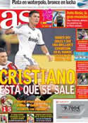 Portada diario AS del 10 de Agosto de 2012