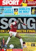 Portada diario Sport del 10 de Agosto de 2012
