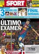 Portada diario Sport del 11 de Agosto de 2012