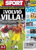 Portada diario Sport del 12 de Agosto de 2012