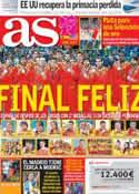 Portada diario AS del 13 de Agosto de 2012