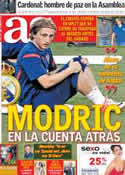 Portada diario AS del 14 de Agosto de 2012