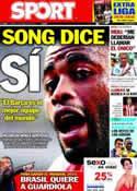 Portada diario Sport del 14 de Agosto de 2012