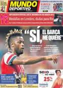 Portada Mundo Deportivo del 14 de Agosto de 2012