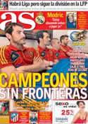 Portada diario AS del 15 de Agosto de 2012
