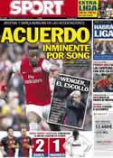 Portada diario Sport del 15 de Agosto de 2012