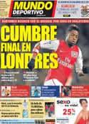 Portada Mundo Deportivo del 15 de Agosto de 2012