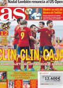 Portada diario AS del 16 de Agosto de 2012