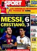Portada diario Sport del 17 de Agosto de 2012