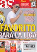 Portada diario AS del 18 de Agosto de 2012